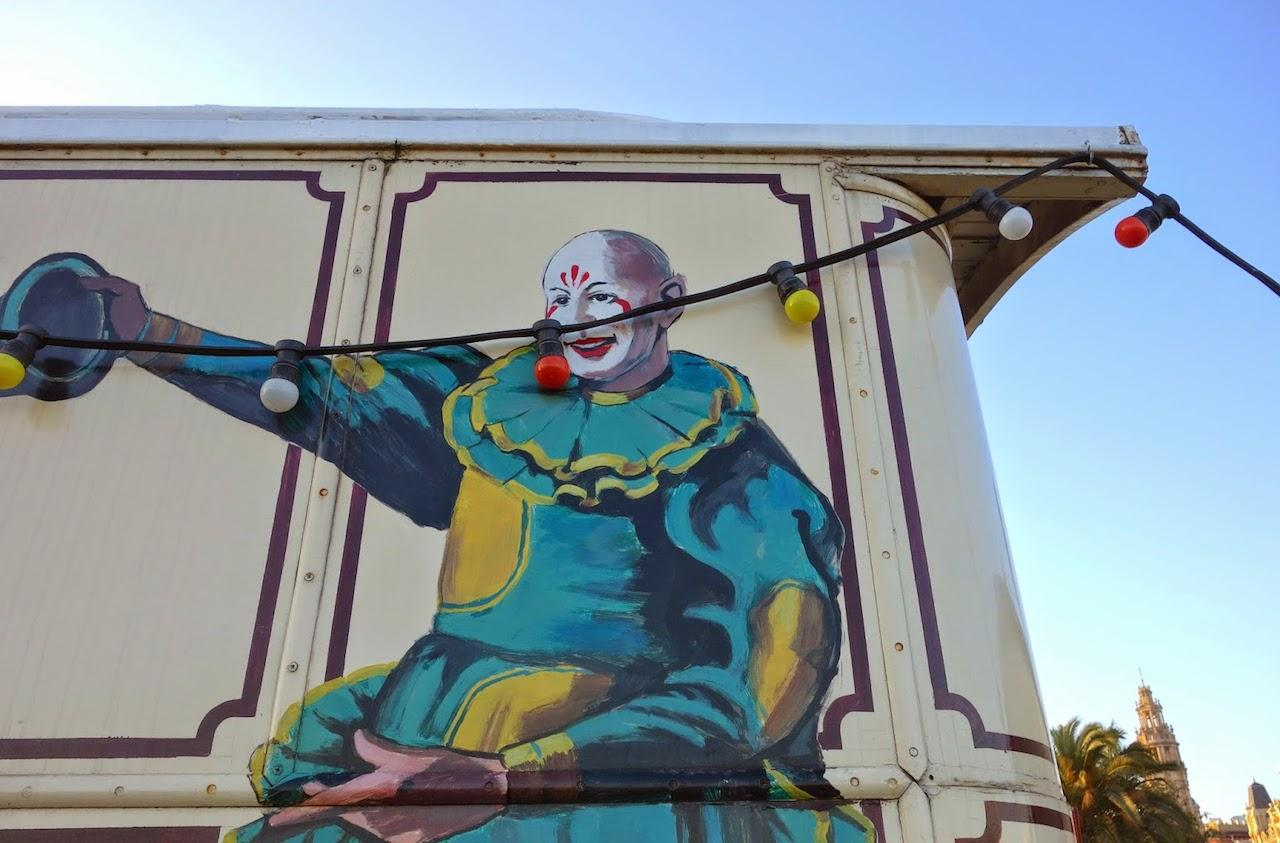 Roulotte cirque Barceloneta Barcelone