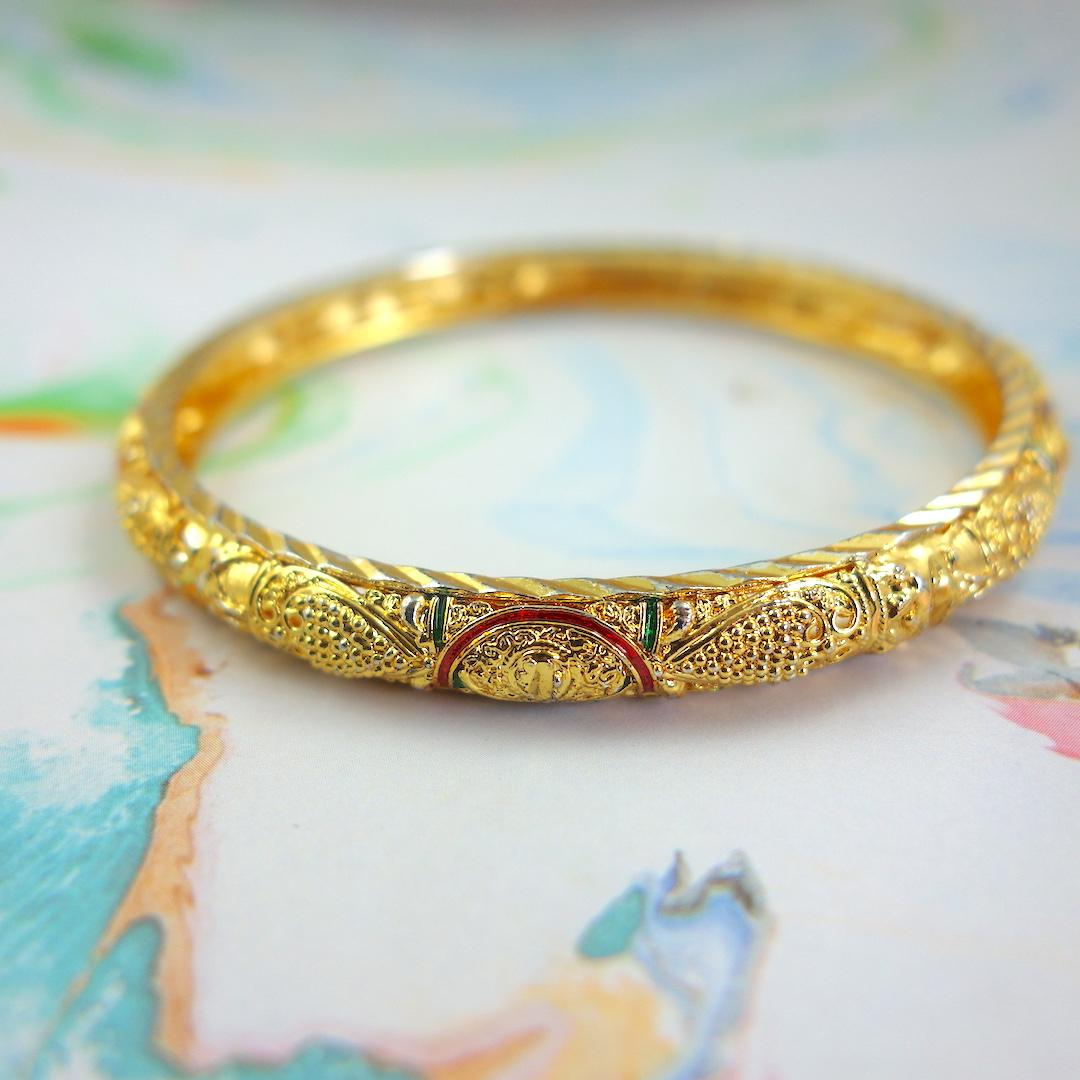 bracelet_india_roulotte_or_ouvrage_bangle_boheme_vintage