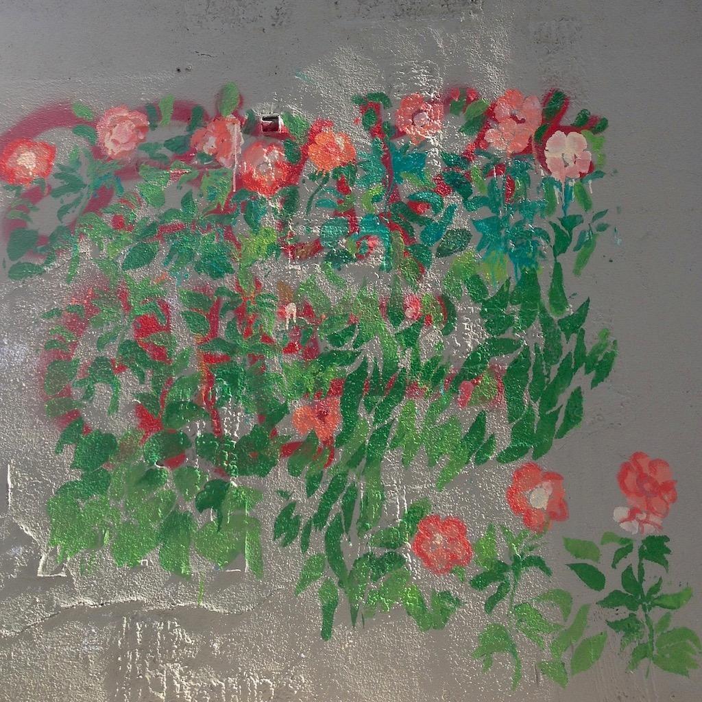 Mur fleuri Marseille