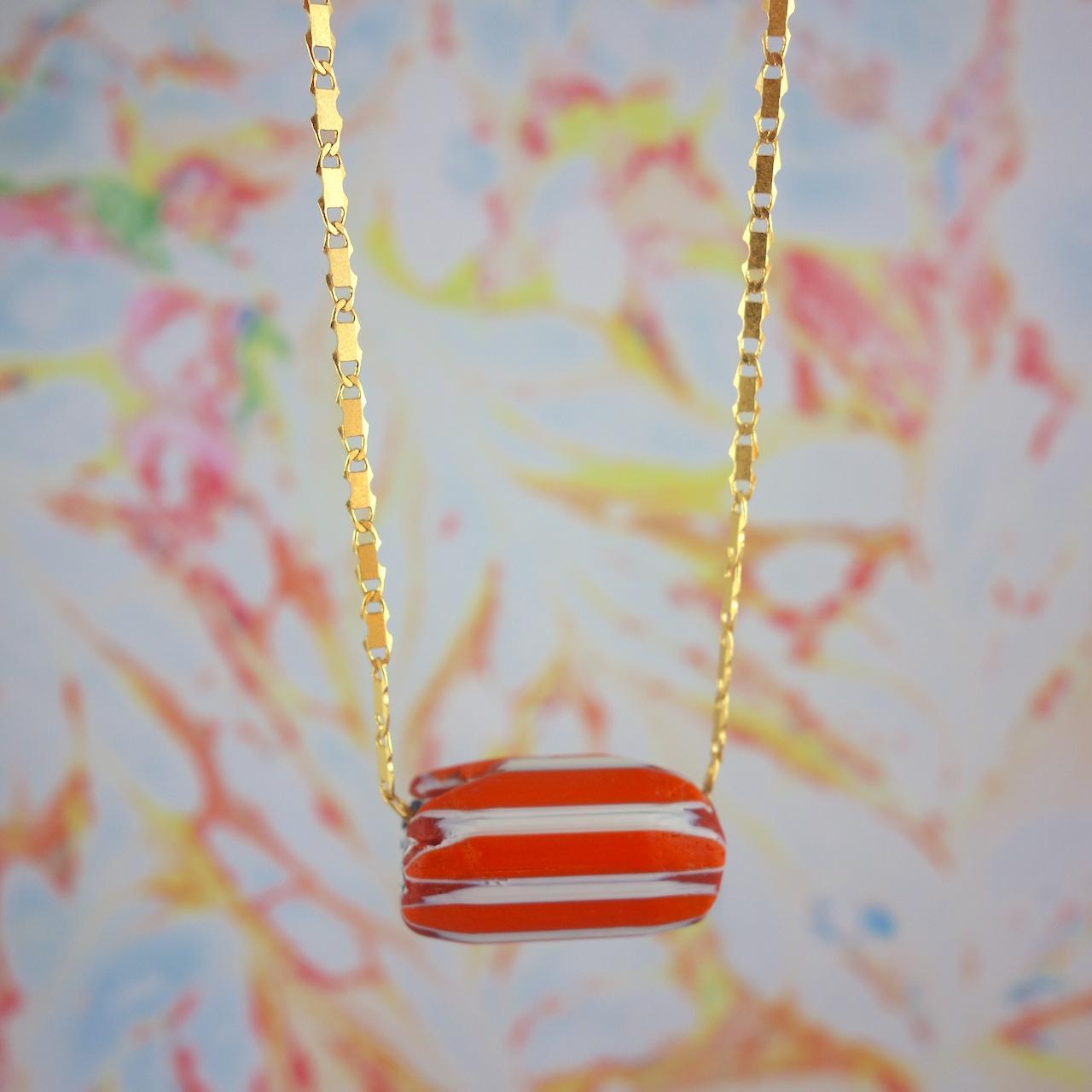 collier-alma-roulotte-perle-murano-vintage-orange-dore-or-fin-boheme