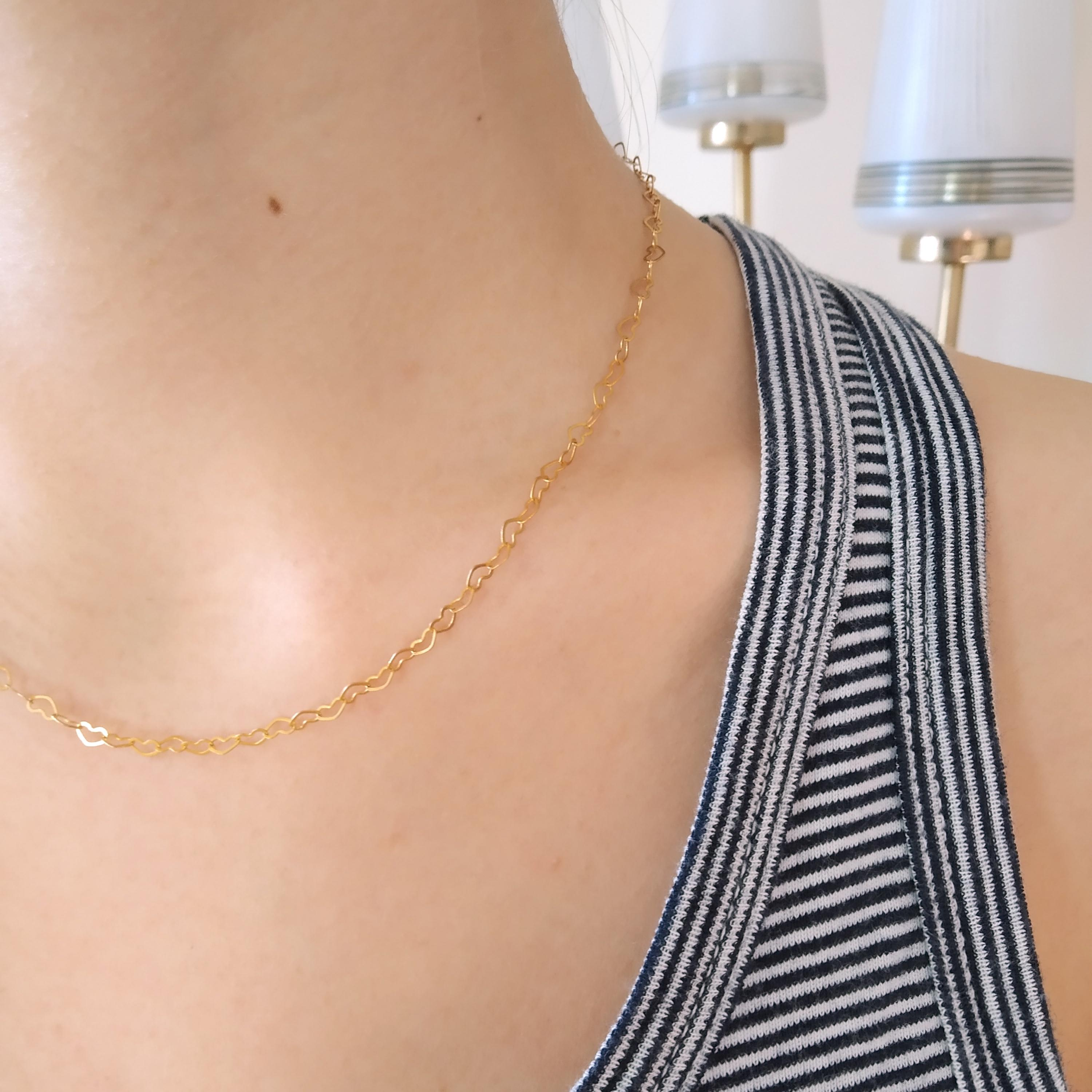collier_romance_coeur_amour_dore_or_fin_roulotte_mannequin