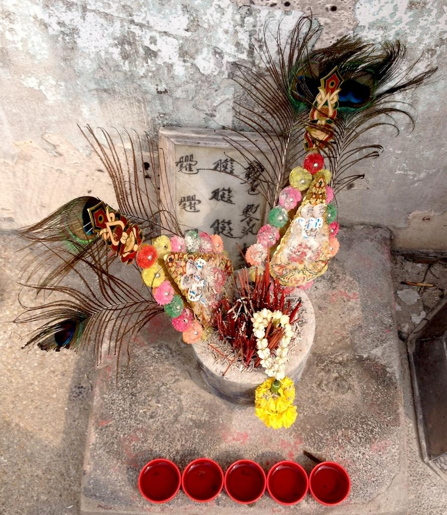 Offrandes temple Asie