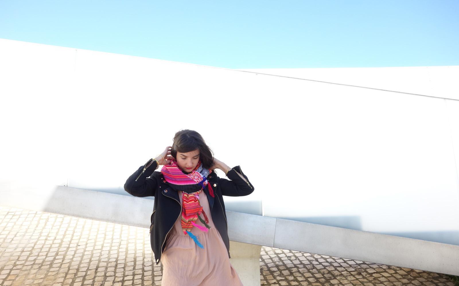 COLORAMA Cheich châle écharpe géante tissu vintage Esprit bohème voyageur tissage artisanal